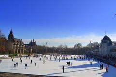 滑冰场布达佩斯匈牙利 图库摄影