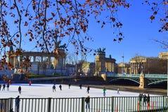 滑冰场布达佩斯 库存图片