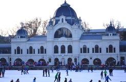 滑冰场布达佩斯 库存照片