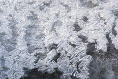 冰块在水中 免版税库存图片