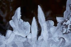 水冻冰块水晶和黑水 免版税库存照片