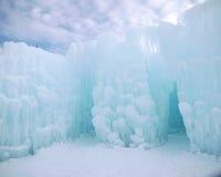 冰城堡和天空在新罕布什尔 库存图片