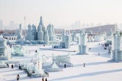冰城市俄国人样式 免版税库存照片