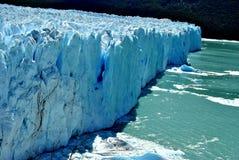 冰墙壁在Calafate 免版税库存图片