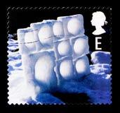 冰墙壁,圣诞节2003年-兵马俑serie,大约2003年 库存图片