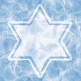 冰大卫王之星 库存照片