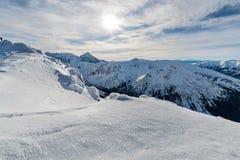 冰天foto在高Tatras倾斜 图库摄影