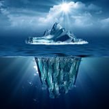 冰山。 库存图片