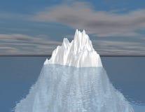 冰山例证直觉, hided机会概念 免版税图库摄影