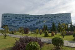 冰山冬季体育宫殿,在2014胜利期间,使用 库存图片
