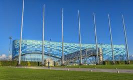 冰山冬季体育宫殿,在2014胜利期间,使用 免版税库存照片
