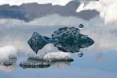 冰山冰岛湖 免版税库存照片