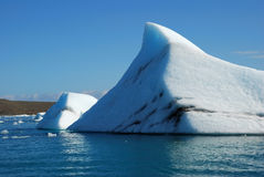 冰山冰岛 免版税库存图片
