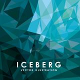 冰山冰川设计 库存例证