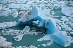 冰山在佩里托莫雷诺 免版税库存照片