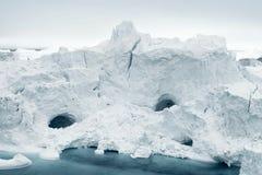 冰山在格陵兰北极海 图库摄影