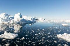 冰山在格陵兰 库存照片