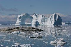 冰山在格陵兰 免版税库存照片