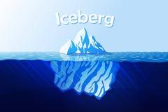 冰山在海洋 免版税库存照片