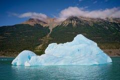 冰山在湖Argentino,埃尔卡拉法特,阿根廷巴塔哥尼亚 库存图片