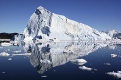 冰山格陵兰冰jakobshavn 库存照片