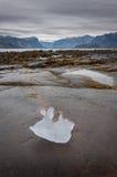冰山残余物在Pangnirtung,努纳武特,加拿大 2/2 免版税图库摄影