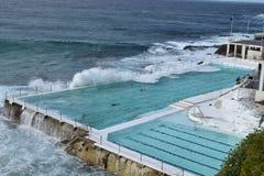 冰山海洋水池在邦迪滩 免版税库存照片