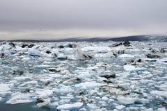 冰山湖 库存照片