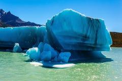 冰山漂浮远离冰川 库存照片
