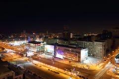 冰山现代购物中心在晚上 库存图片