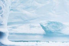 冰山的弯曲的细节 免版税图库摄影