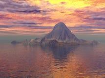 冰山粉红色 图库摄影