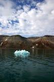 冰山,斯瓦尔巴特群岛挪威 库存照片