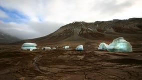 冰山,斯瓦尔巴特群岛挪威 免版税库存照片