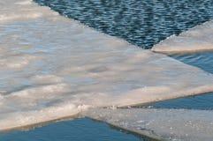 冰山洪流 免版税图库摄影