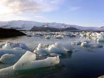 冰山jokursarlon 库存图片