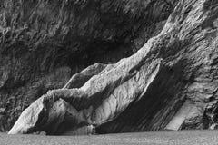 冰岛。南区域。Vik。Reynisfjara玄武岩形成。 免版税图库摄影