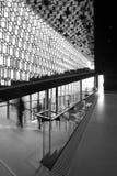 冰岛。雷克雅未克。Harpa音乐堂。内部。 免版税库存图片