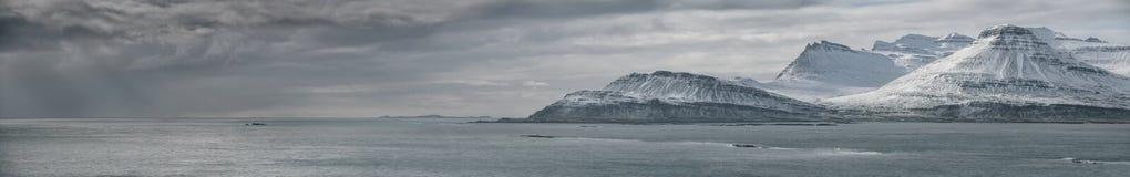 冰岛东海岸全景 库存图片