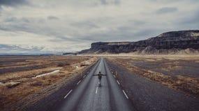 冰岛全景,在土地的鸟瞰图 库存图片