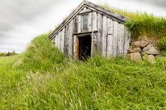 冰岛农村历史房子 免版税库存图片