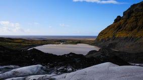 冰岛冰川海 免版税图库摄影