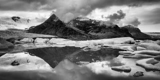 冰岛冰川 库存照片