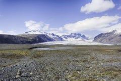 冰岛冰川 免版税库存照片