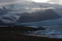 冰岛冰川- Vatnajokull 免版税图库摄影