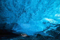 冰岛冰洞 免版税库存图片