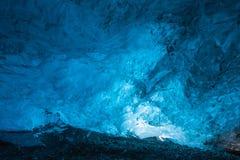 冰岛冰洞 库存照片