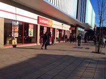 冰岛冷冻食品商店前面 免版税库存照片