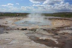 冰岛喷泉 库存照片