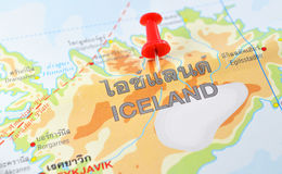 冰岛地图 免版税库存图片